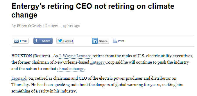 Utility CEO on Climate Change