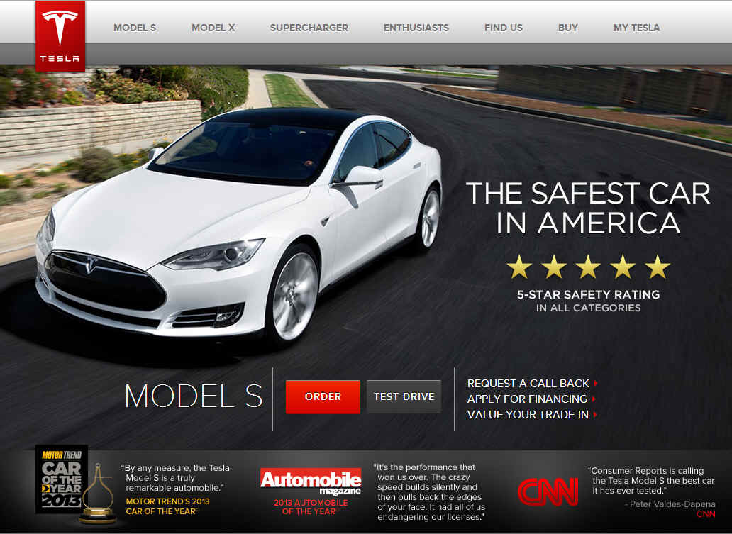 Tesla's Award Winning Model S